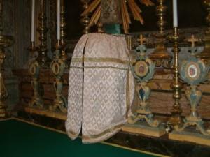 A veiled tabernacle.