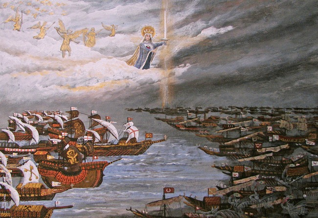 """The Blessed Virgin was wrong to have led the Holy Fleet into war against our gentle musloids brothers and saved Europe.  She should have relied on dialogue and """"encounter""""."""