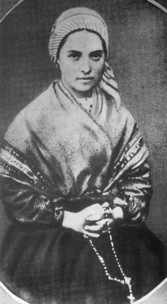 St. Bernadette, and her eyes.  This, being a photograph, almost makes one feel slightly uncomfortable as you can almost feel her looking through YOU.