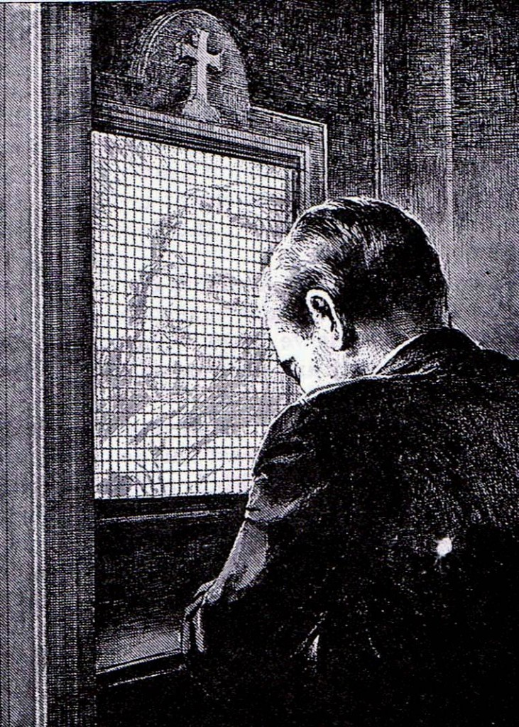 """The proper posture for confessing one's sins is kneeling, not sitting on a leather sectional with one's legs crossed in Father Jazzhands' office as you both """"dialogue about your feelings"""".  Confess properly and you may confidently expect little miracles."""