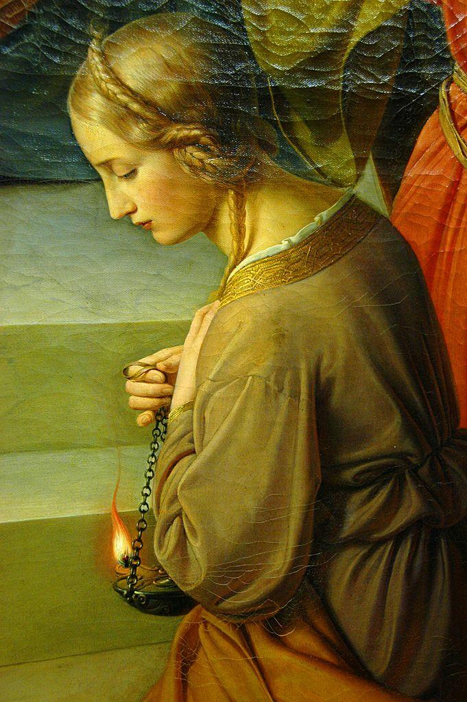 READY! (Friedrich Wilhelm von Schadow, 1789-1862. Parable of the Wise and Foolish Virgins, detail.)