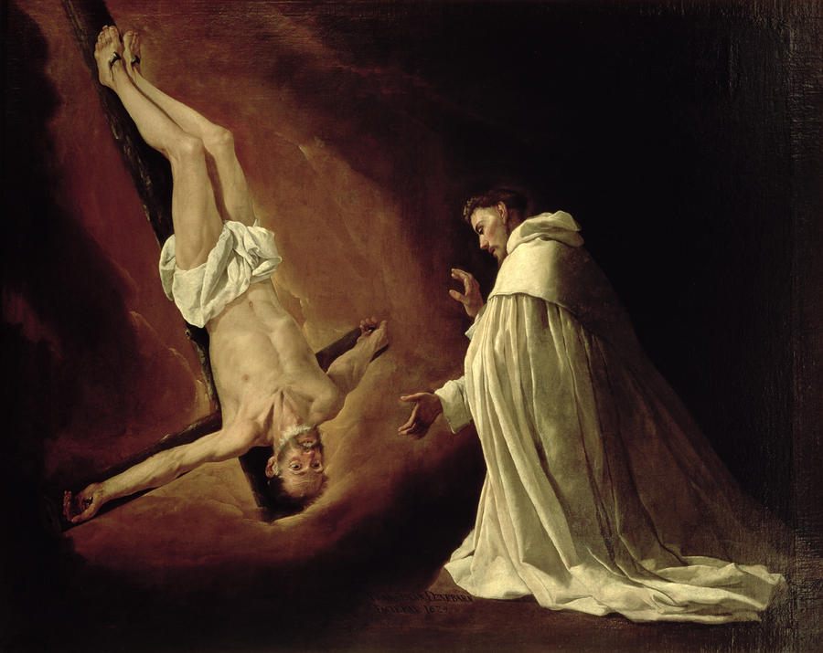 Apparition of St. Peter to St. Peter Nolasco, Francisco de Zurbaran, ARSH 1629