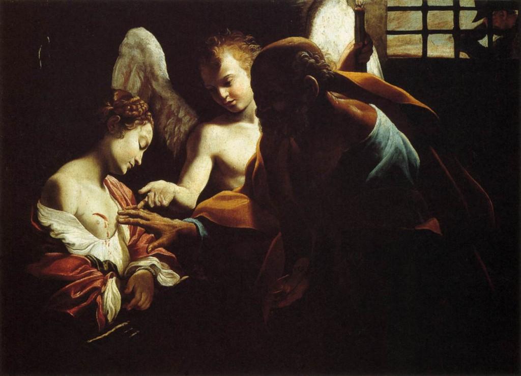 St. Peter Healing St. Agatha, Giovanni Lanfranco, ARSH 1614