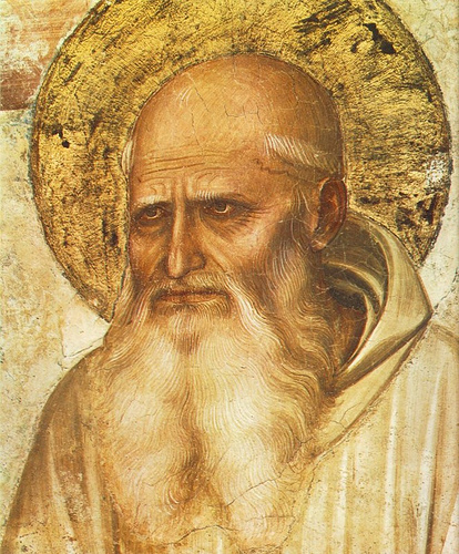 St. Benedict and his deeply furrowed brow.  Plus ça change....