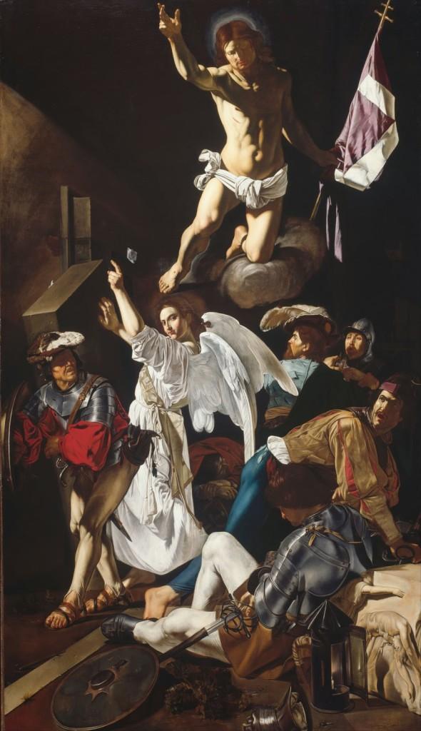 """The Resurrection, Francesco Buoneri (""""Cecco del Caravaggio""""), ARSH 1619-1620, Art Institute of Chicago."""
