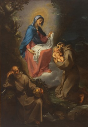 The Virgin and Child Appearing to St. Francis of Assisi, Francesco Vanni, ARSH 1599