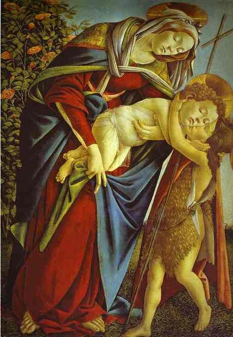 Virgin and Child with St. John the Baptist, Sandro Botticelli, ARSH 1495