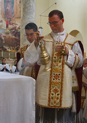 Fr. Kenneth Walker celebrating his first Mass in June 2012.