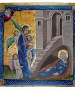 Saint Alexius, in his cozy room under his parents' stairs.