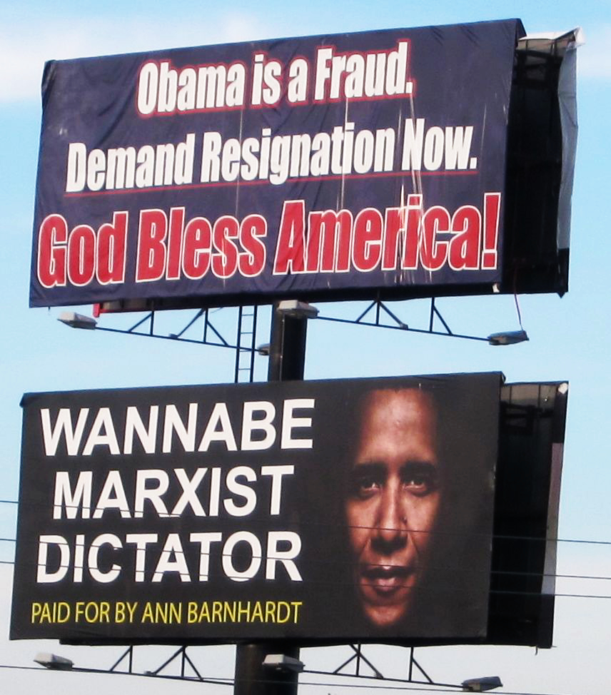 Obama Kansas Billboard Ann Barnhardt
