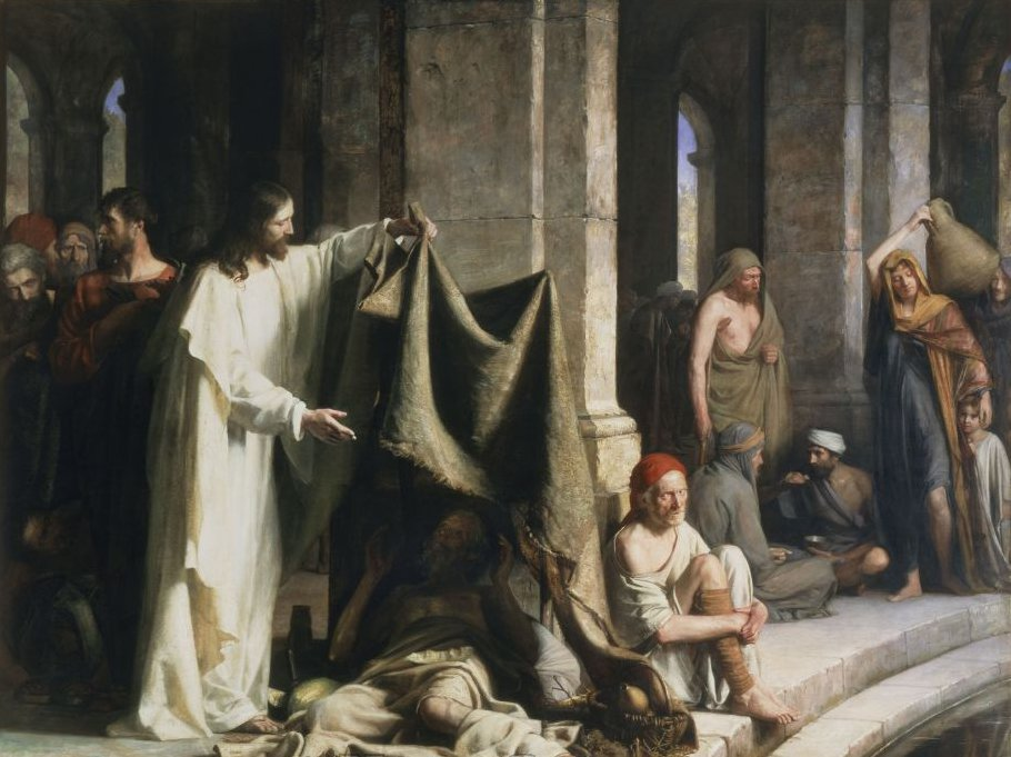 """Healing at the Pool of Bethesda"", Carl Bloch, ARSH 1883"