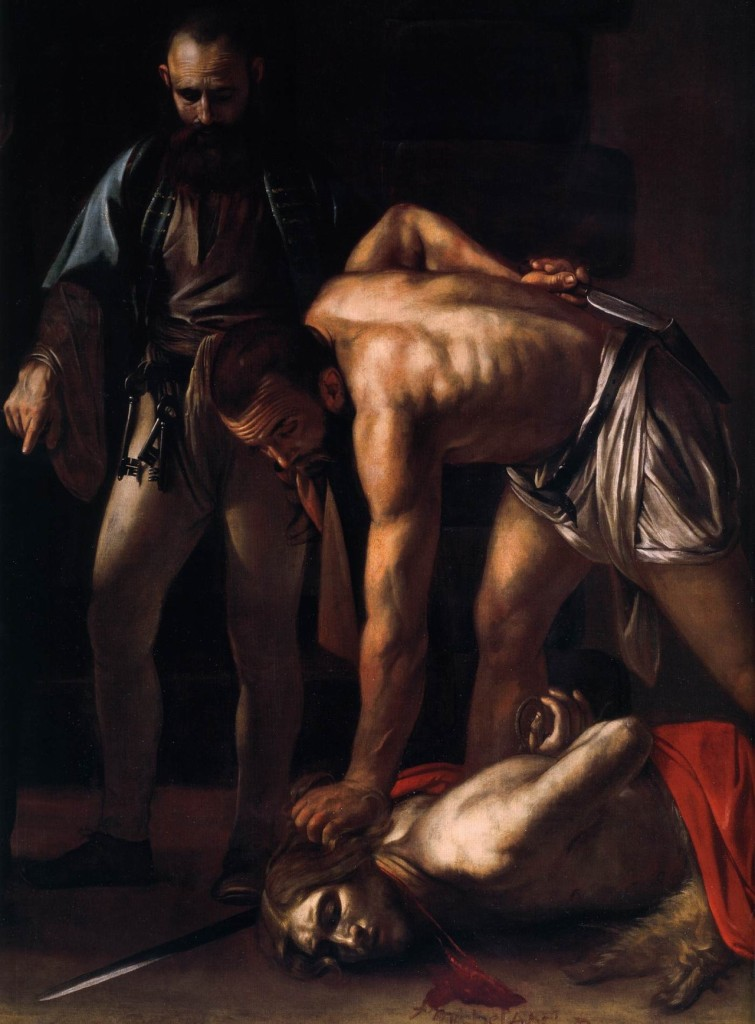 The Beheading of St. John the Baptist (Detail), Caravaggio, ARSH 1608