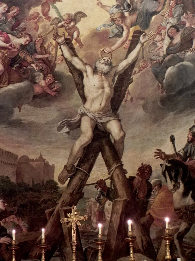 Crucifixion of St. Andrew, Mattia Preti, ARSH 1651, Church of Sant' Andrea della Valle, Rome