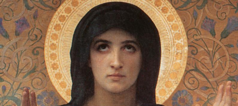 Vierge Consolatrice, detail, William-Alolphe Bouguereau, ARSH 1875
