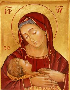The Mother of Divine Providence with her Sweet Snuggly Baby.