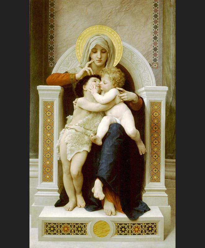 """The Virgin, the Baby Jesus and Saint John the Baptist"", ARSH 1875, W.A. Bouguereau"