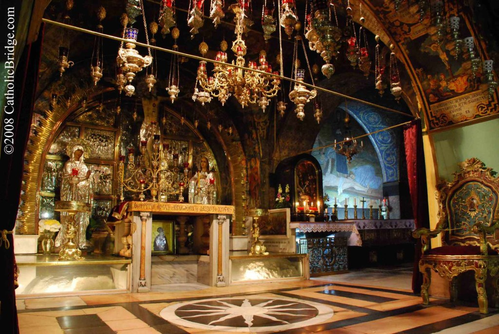 Altar atop Calvary, Basilica of the Holy Sepulchre, Jerusalem