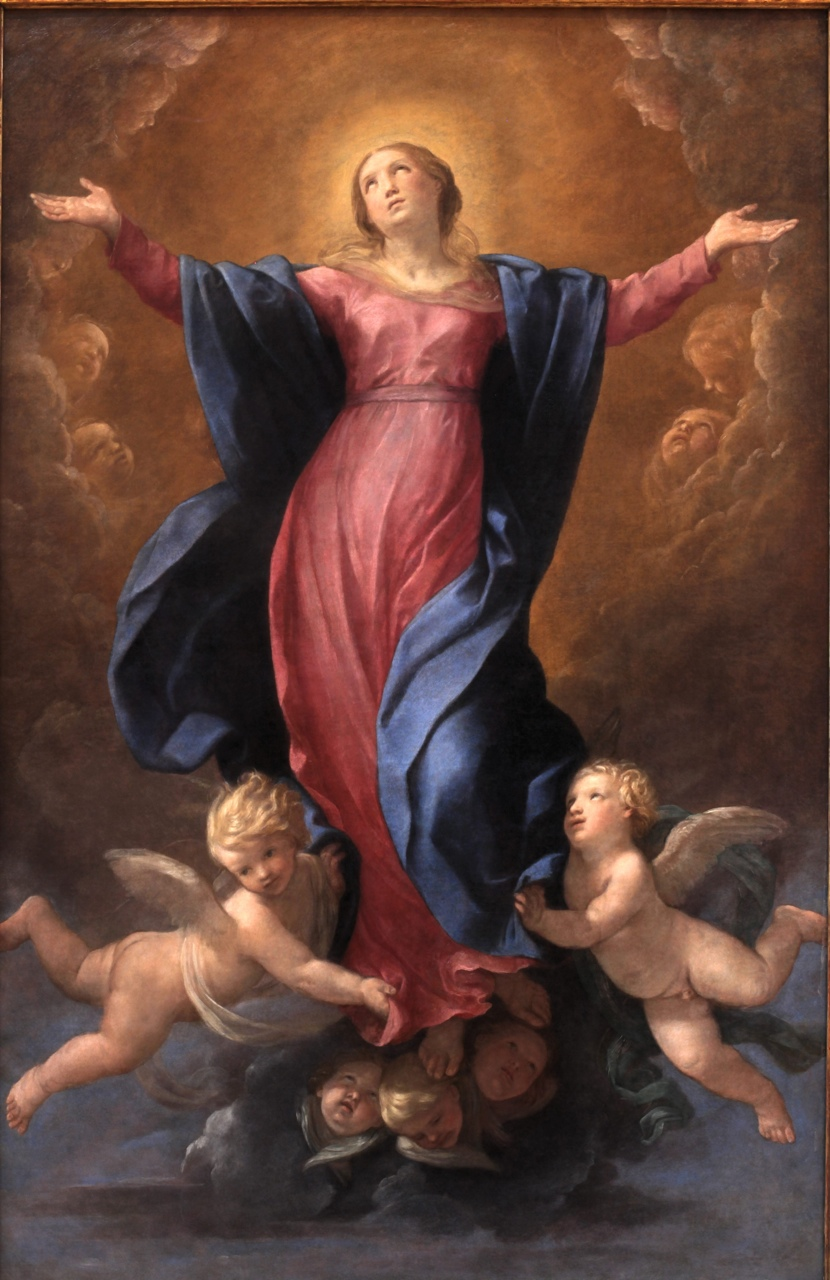Another Guido Reni of the Assumption of the Blessed Virgin Mary into heaven.  Sigh....