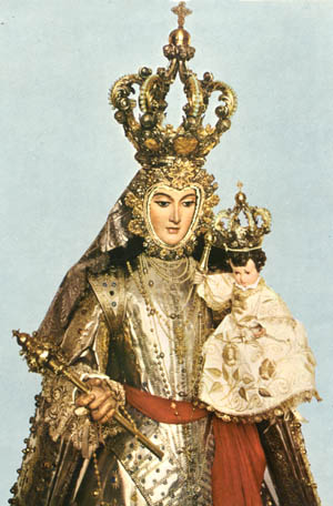 The Virgin of Lepanto.  In full Battle Armor. Remember, we don't detest islam nearly as much as the  Mother of God does.