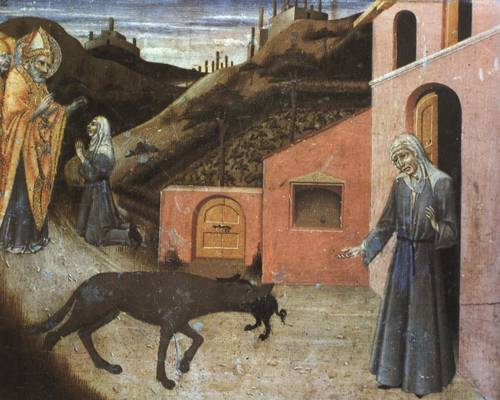 Predella Panel from Stories from Life of St. Blaise The Wolf Returning the Pig to the Poor Widow, Sano di Pietro, 15th Century