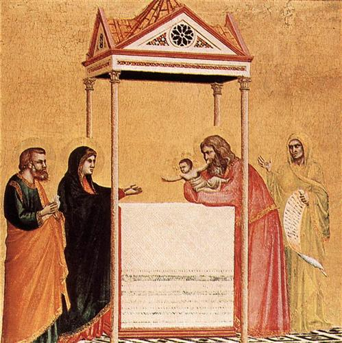 """""""Presentation of the Infant Jesus in the Temple"""", Giotto, ARSH 1320, Isabella Stewart Gardner Museum, Boston"""