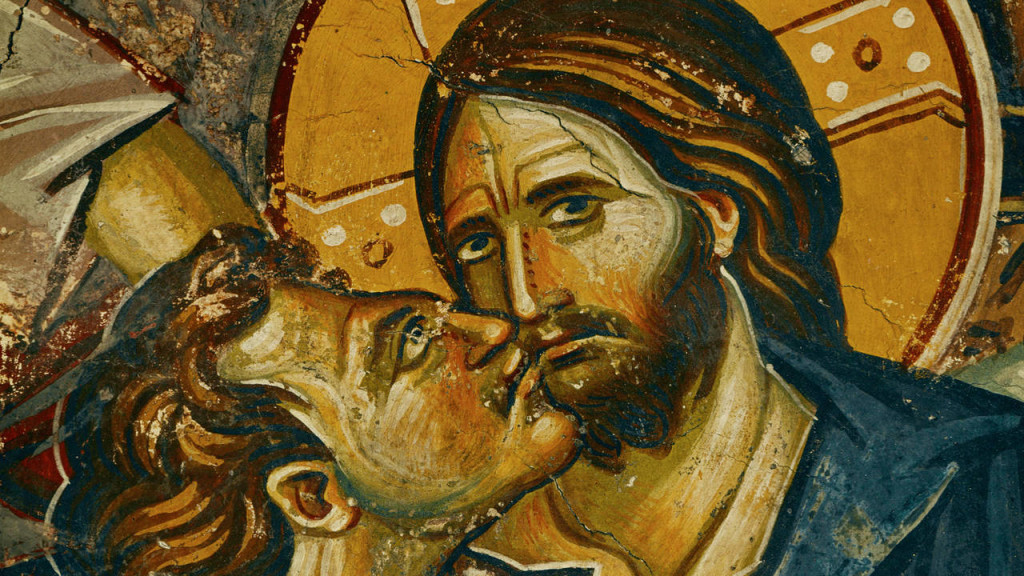 Agony. Agony. Agony. Judas, worst of the traffickers, approached the Lord with a kiss: He like an innocent lambrefused not the kiss of Judas; For a few pence he delivered Christ to the Jews.