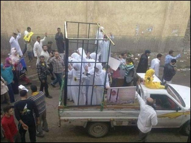 Half of the 19 Yazidi Girls being taken to be burned alive.