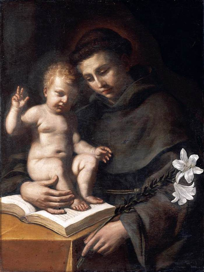 Saint Anthony of Padua with the Infant Christ, by Guercino, ARSH 1656, Bologna,
