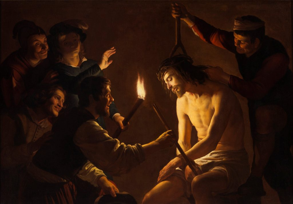 Gerrit van Honthorst, Christ Crowned with Thorns, ARSH 1617,  Los Angeles County Museum of Art.