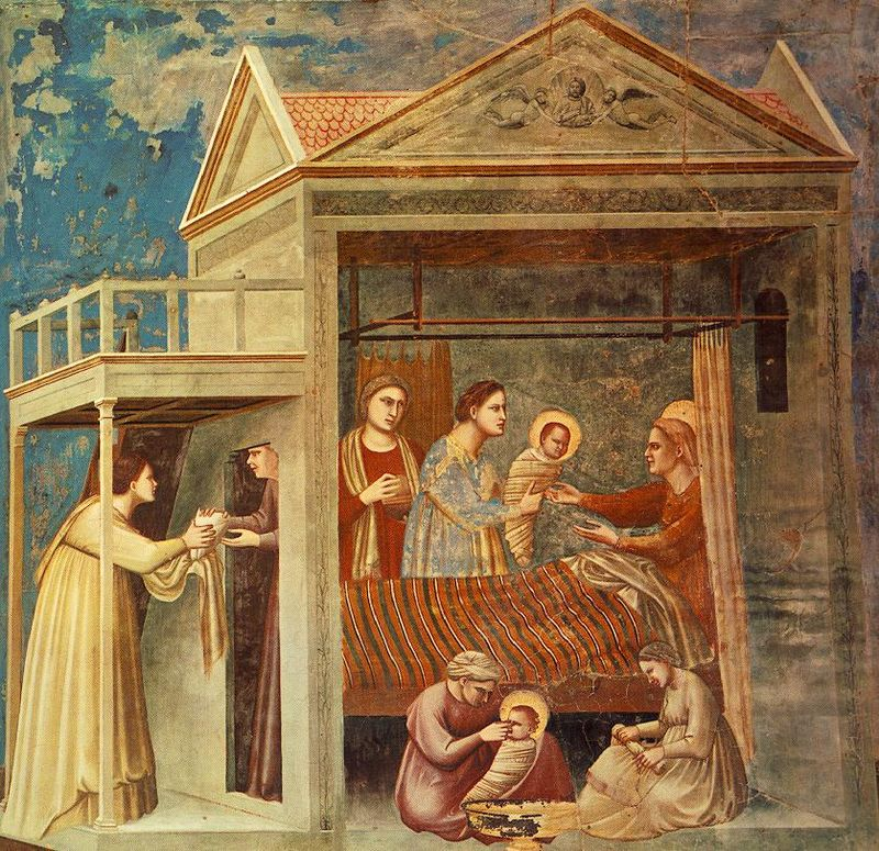 The Birth of the Virgin Mary, Giotto, Scrovegni Chapel, Padua, ARSH 1305