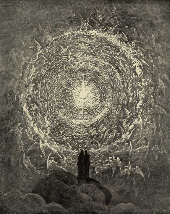 Gustav Dore, Illustration to Dante's Divine Comedy, Paradiso, Plate 34.