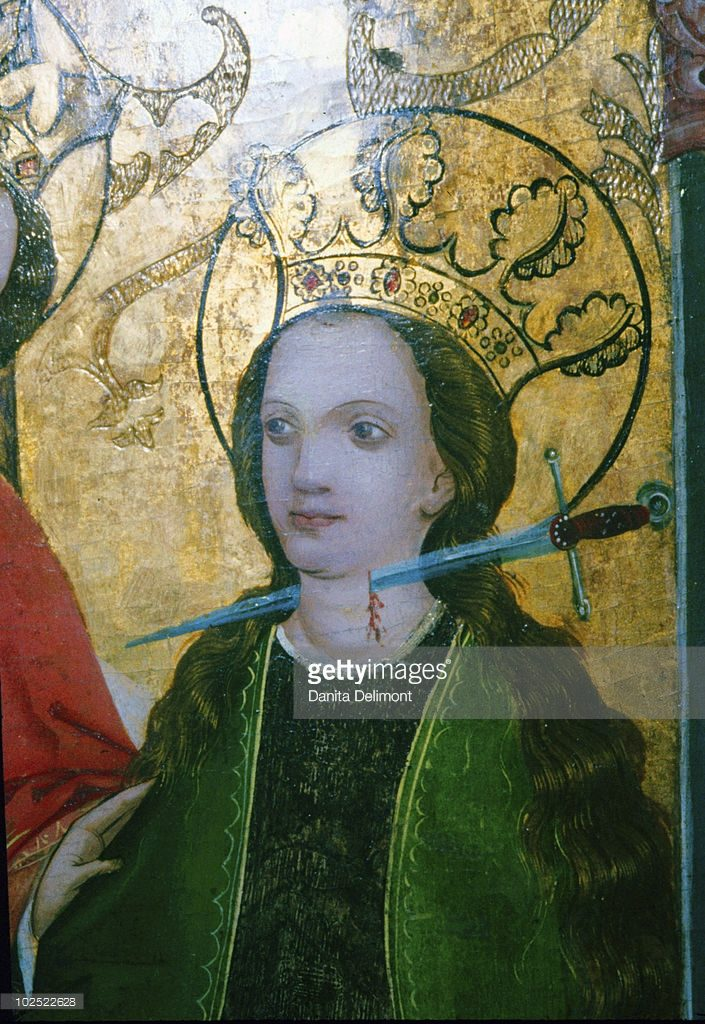 Detail of a 15th Century German Altarpiece, St. Lucy.