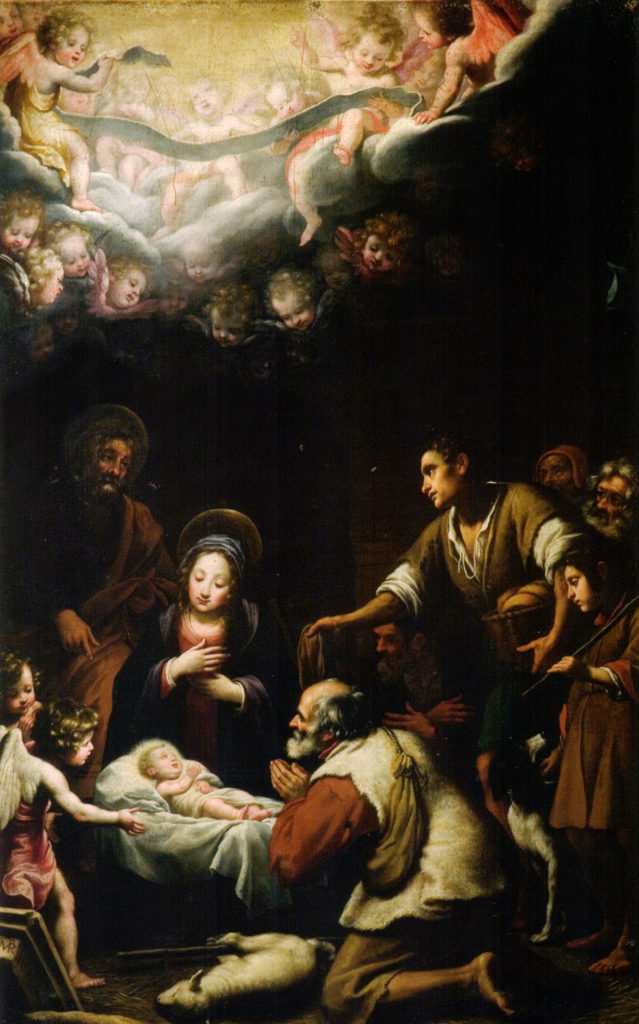 The Nativity of Christ, Matteo Rosselli, ARSH 1620, Church of Saints Michael and Cajetan, Florence, early 1600s.